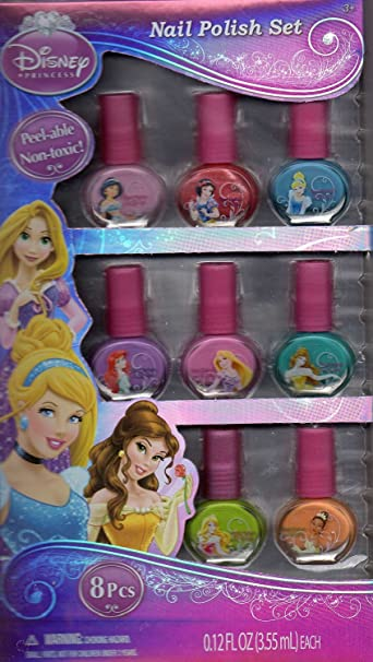 Amazon com : Disney Princess Nail Polish Set 8 pieces (Jasmine, Snow