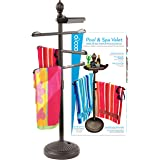 O2COOL Pool & Spa Valet, Adjustable Pool & Patio Towel Holder, Towel Holder, Towel Bar, Poolside Table, Poolside Towel Holder