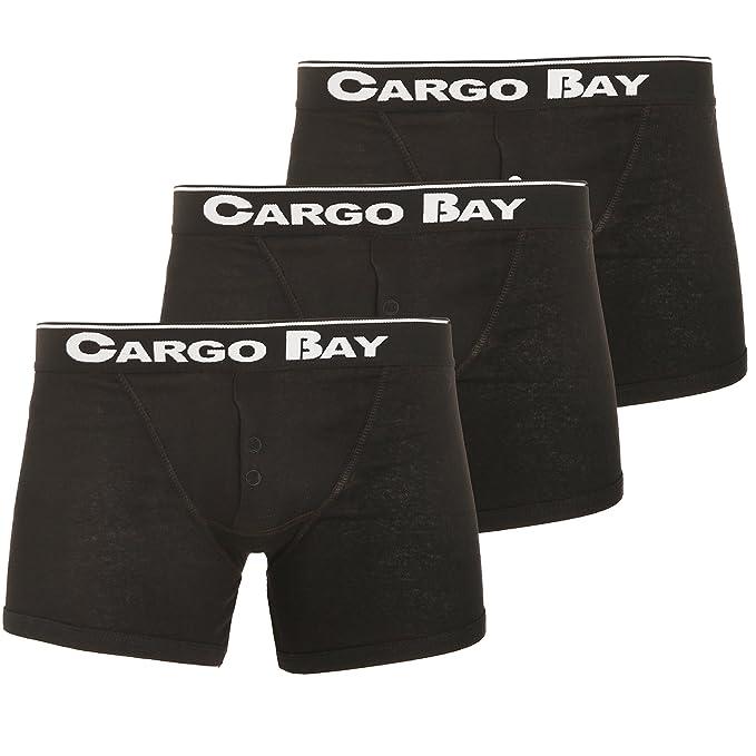 Amazon.com: Cargo Bay para hombre botón Fly Boxer (paquete ...