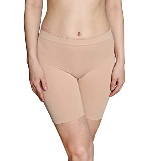 604924f5557 INNERSY Women s Seamless Slipshort Safety Pants Invisible Mid-Length  Leggings Stretchy Under Dresses Boxer Shorts