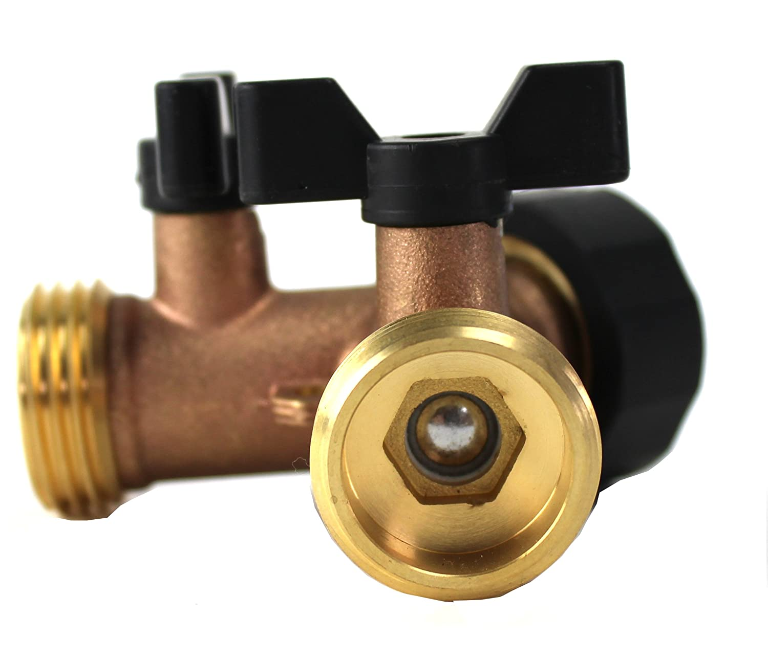 Amazon.com : Kasian House Heavy Duty Brass Garden Hose Splitter, Y ...