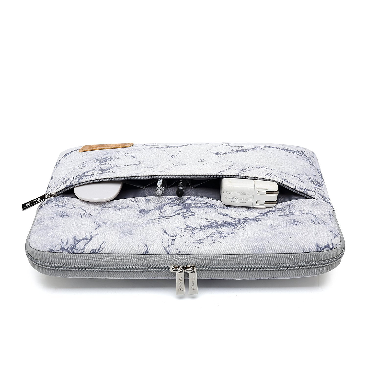 Canvaslife Marble Pattern 360 Degree Protective 14 inch Waterproof Laptop Sleeve case Bag with Pocket for 14 inch 14.0 inch Laptop by canvaslife (Image #3)