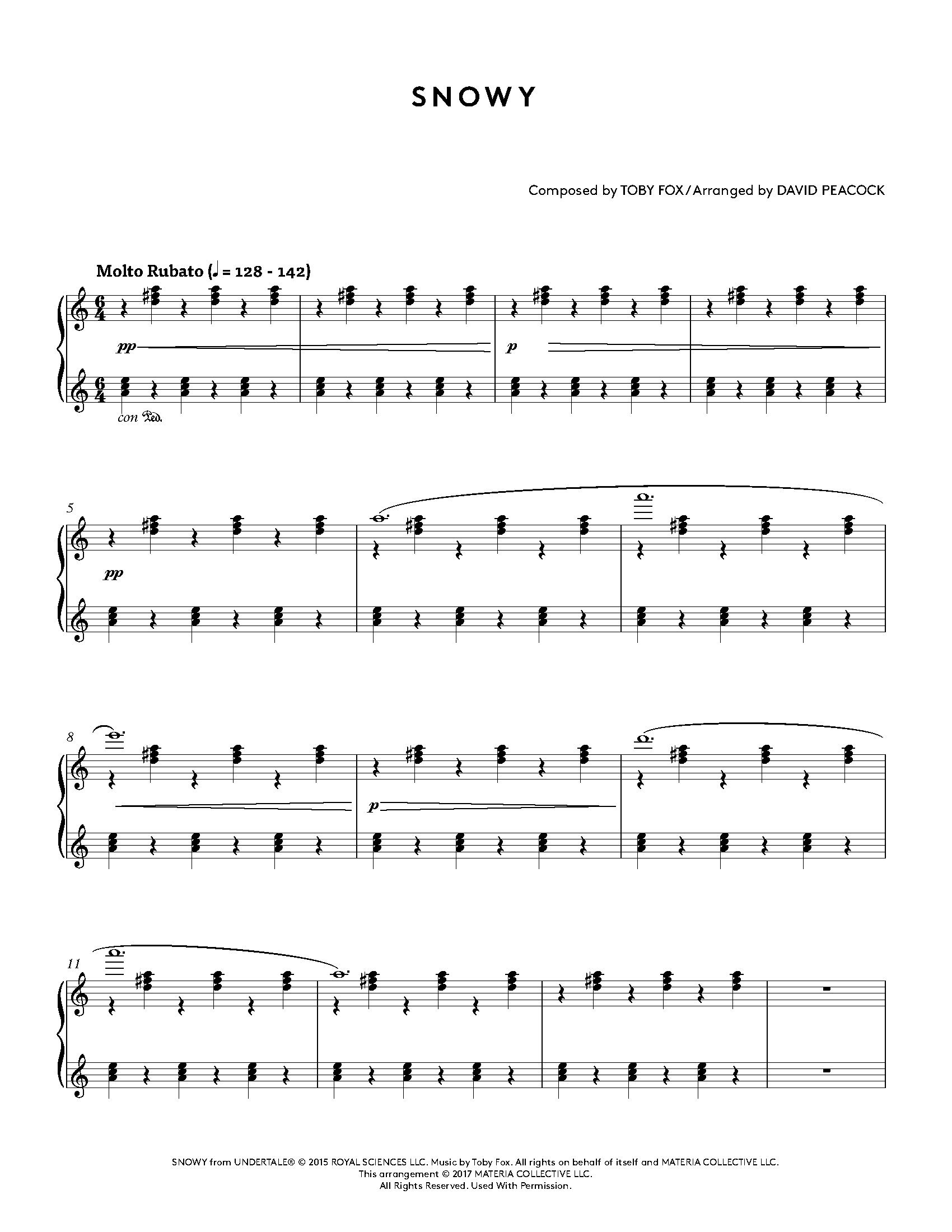 Undertale Piano Collections - Sheet Music from the game