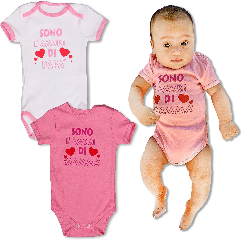 Repanda, Body de Manga Corta para Bebé, Pack de 2, 100% Algodón, Rosa y Blanco: Amazon.es: Ropa y accesorios