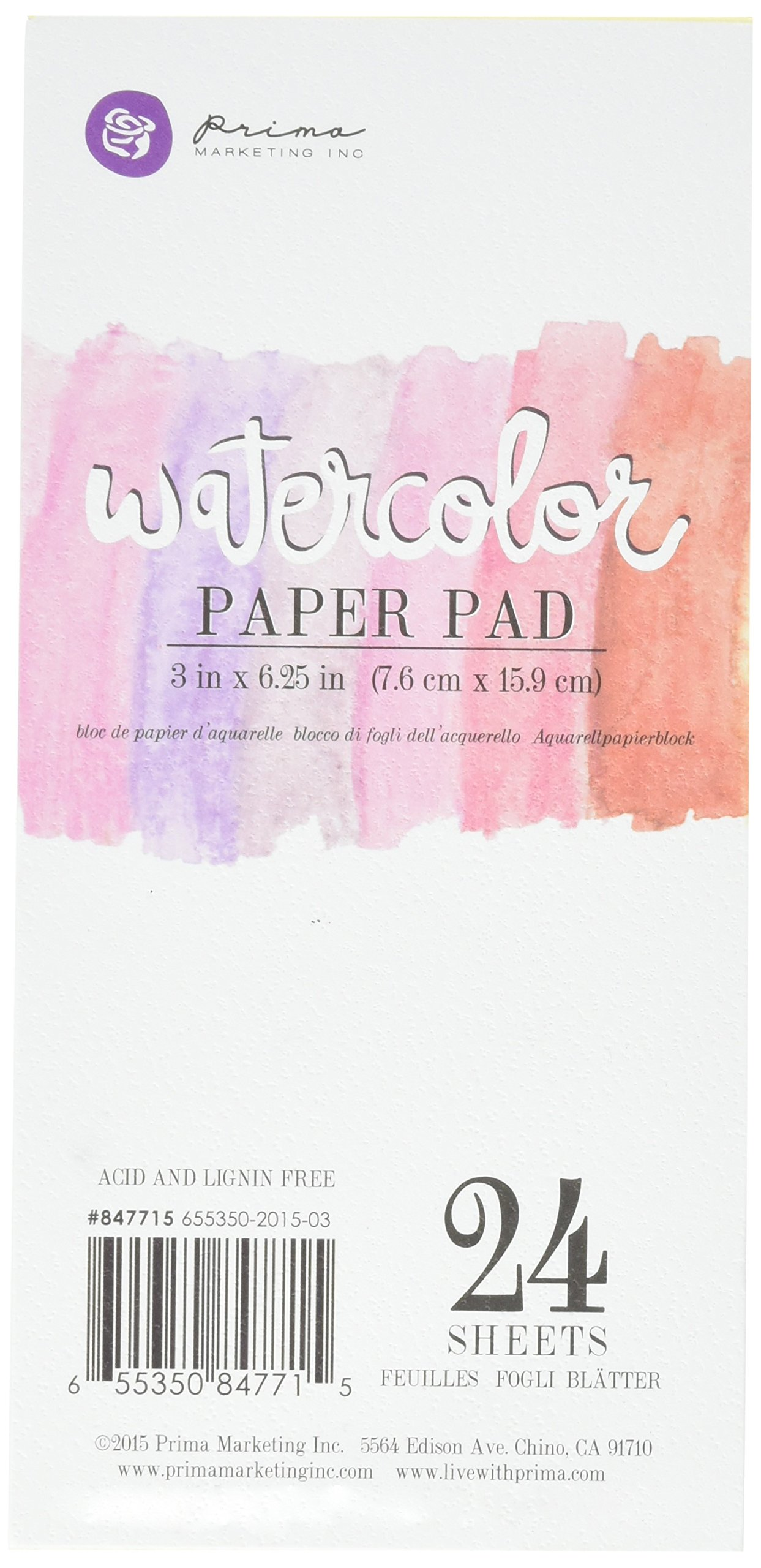 Prima Marketing 655350847715 Watercolor Paper PAD3