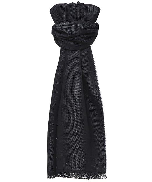 Armani Uomo sciarpa di lana logo Antracite Unica Taglia  Amazon.it   Abbigliamento 9410f1a8c1ee
