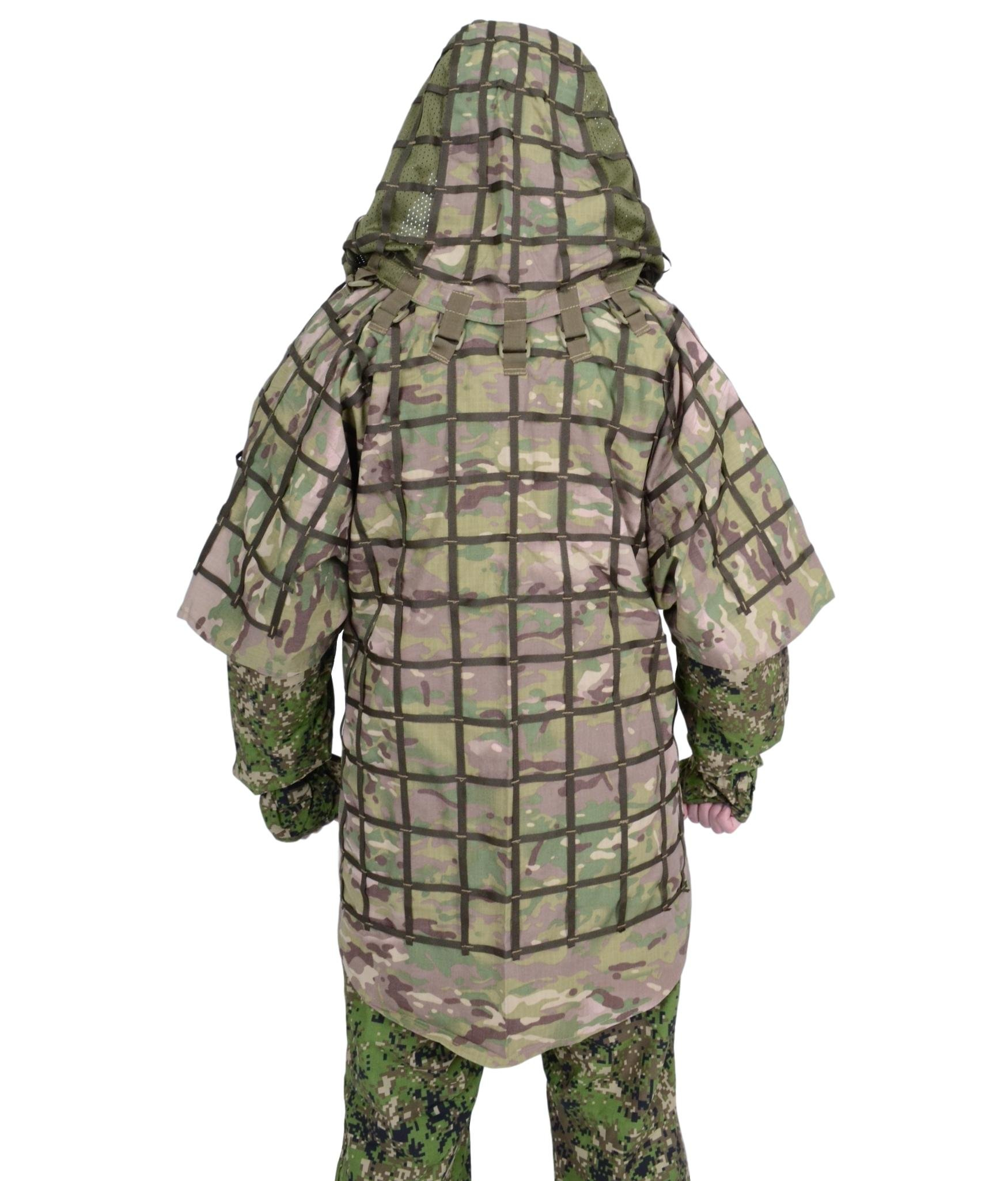Ghillie Suit ''Ghost'' by SPOSN / SSO   Russian Sniper Coats / Viper Hoods (Multicam)