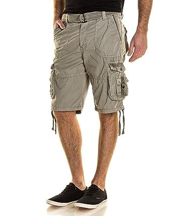 3f02151d818f Deeluxe 74 - Bermuda Homme Gris Clair Multipoches - Couleur  Gris - Taille   FR 36 US 29  Amazon.fr  Vêtements et accessoires