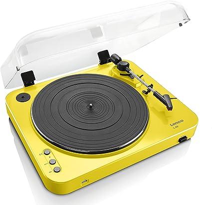 Lenco L-85 Color Amarillo Tocadisco con USB: Amazon.es: Electrónica