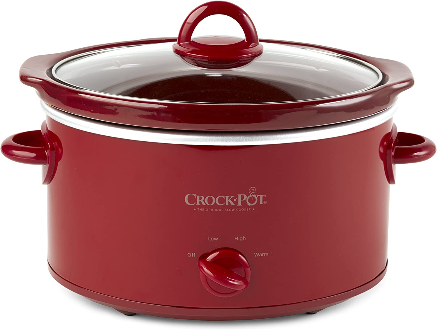 Crock-Pot, Red SCV401-TR 4-Quart Manual Slow Cooker
