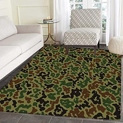 amazon com camouflage area rug carpet green camo pattern abstract