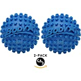 Body Back Company's Body Star 2.5 Inch Acupressure Self Massage Ball and Muscle Pain Reliever - Blue 2-pack