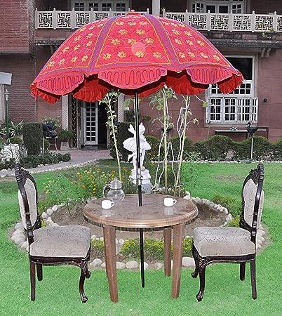 Lalhaveli Decorative Handmade Embroidery Design Large Umbrella For Wedding 52 X 72 Inches