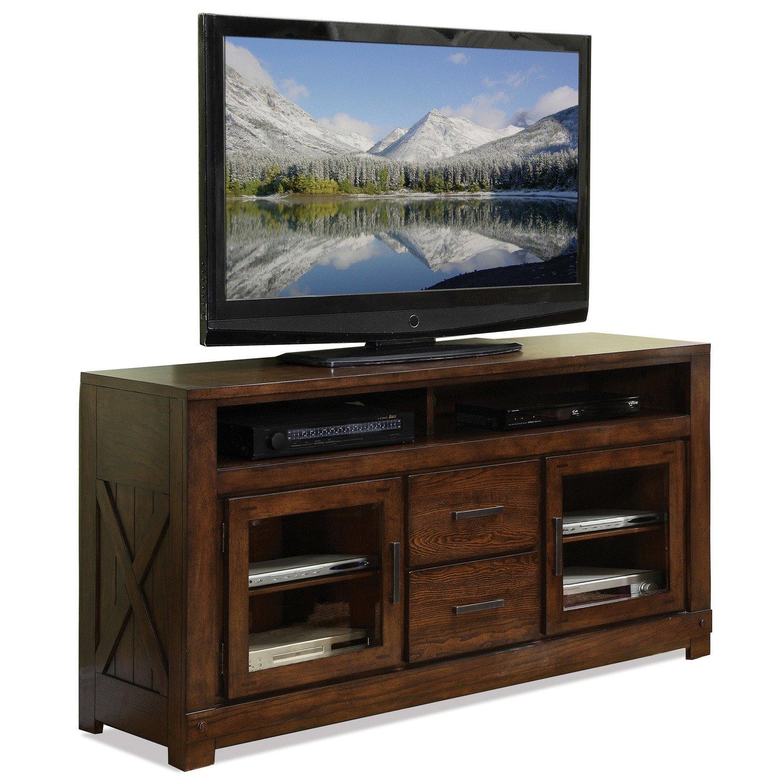 Amazon.com: Riverside Furniture Windridge TV Console In Sagamore Burnished  Ash: Electronics