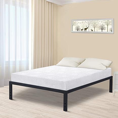 Amazon.com: SLEEPLACE - Marco de cama de pizarra de metal de ...