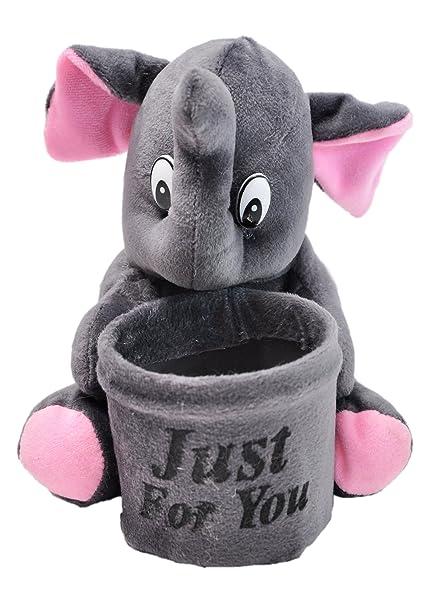 Prachi Toys Soft Teddy Pen Stand Holder For Kids Birthday (Elephant)