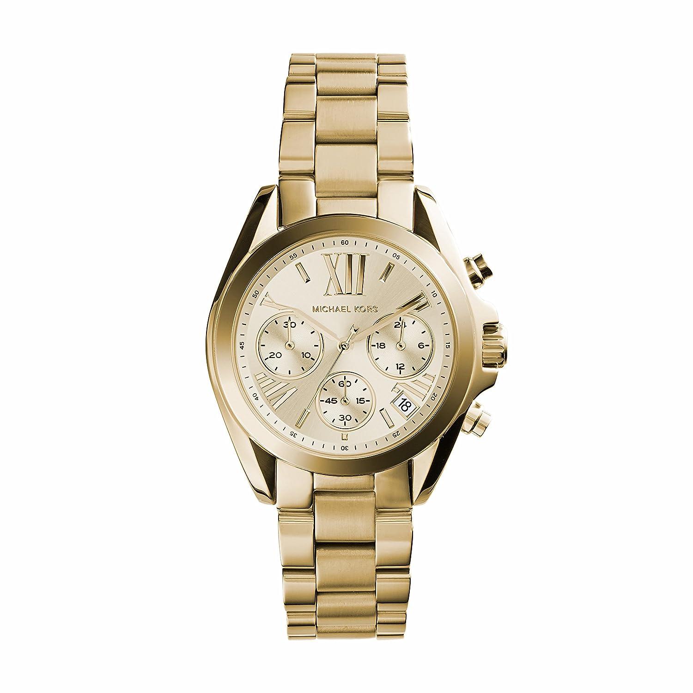 8b7c2b7adc77 Amazon.com  Michael Kors Bradshaw Gold Dial Gold Tone Stainless Steel  Ladies Watch MK5798  Watches