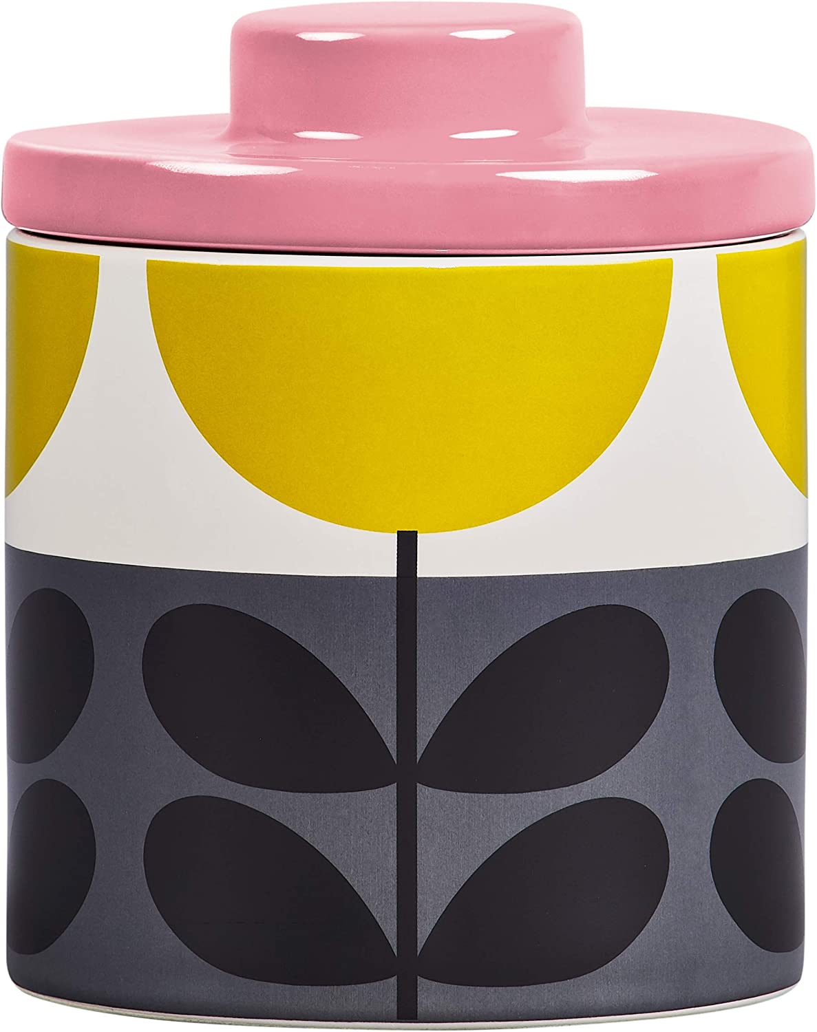 Glass Orange Flowers! Storage Jar Orla Kiely