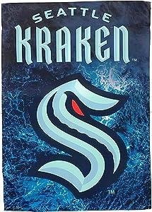 Evergreen Enterprises, Inc. Kraken Premium Premium 2-Sided Garden Flag House Nylon Banner Hockey