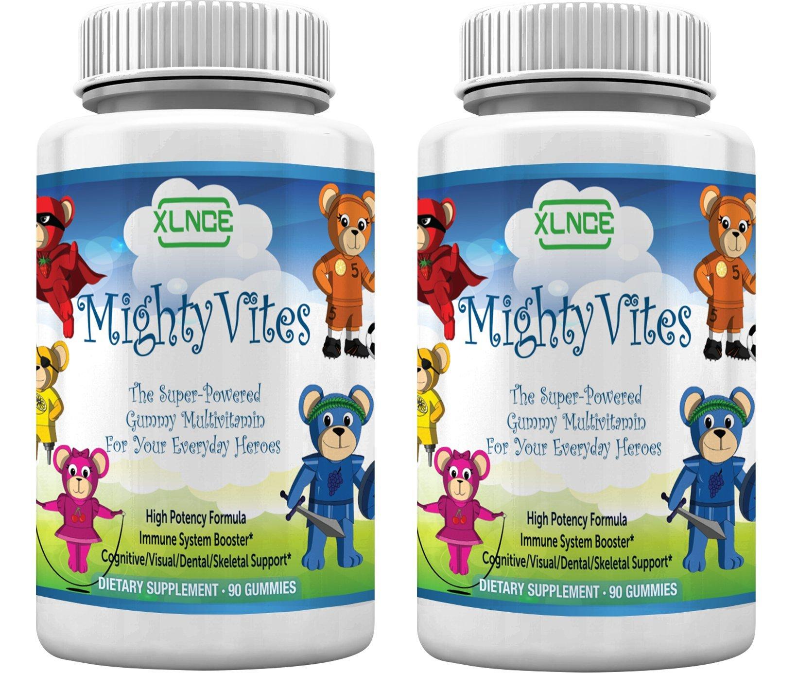 Pack of 2 Children Multivitamin Gummies by XLNCE - Gummy Vitamins Boost Immune System Health in Kids, Toddlers, Teens, Men & Women. Best Natural Chewable Multivitamins. Add Multi Items to Cart NOW!