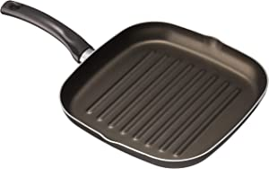Mehtap Rectangular Aluminum Grill Fry Pan Nonstick Cookware Perfect for Grilling Bacon, Steak, and Meats, ogf28x28