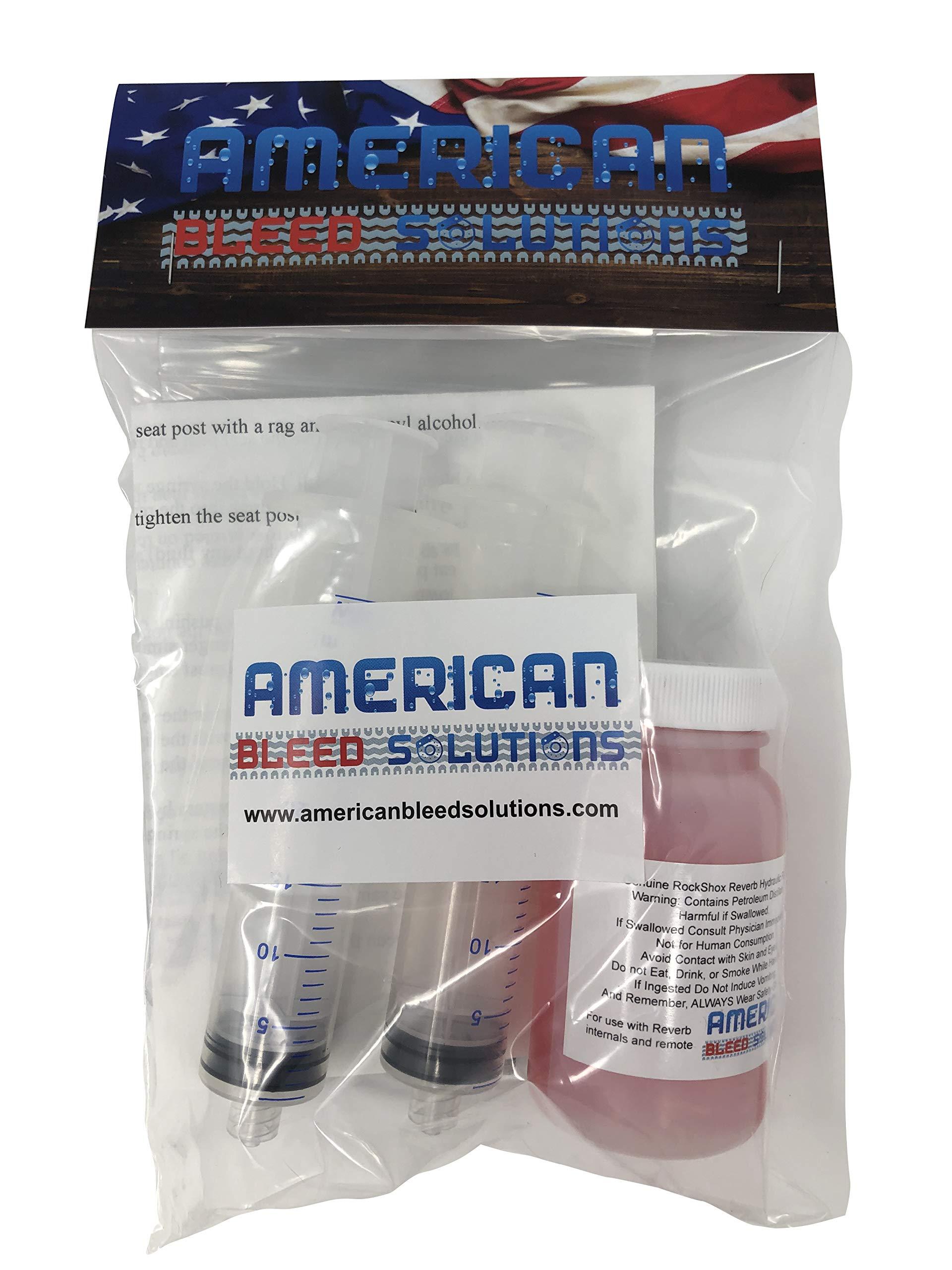 Bleed Kit for RockShox Reverb Seat Post with 100ml Genuine RockShox 2.5wt Fluid