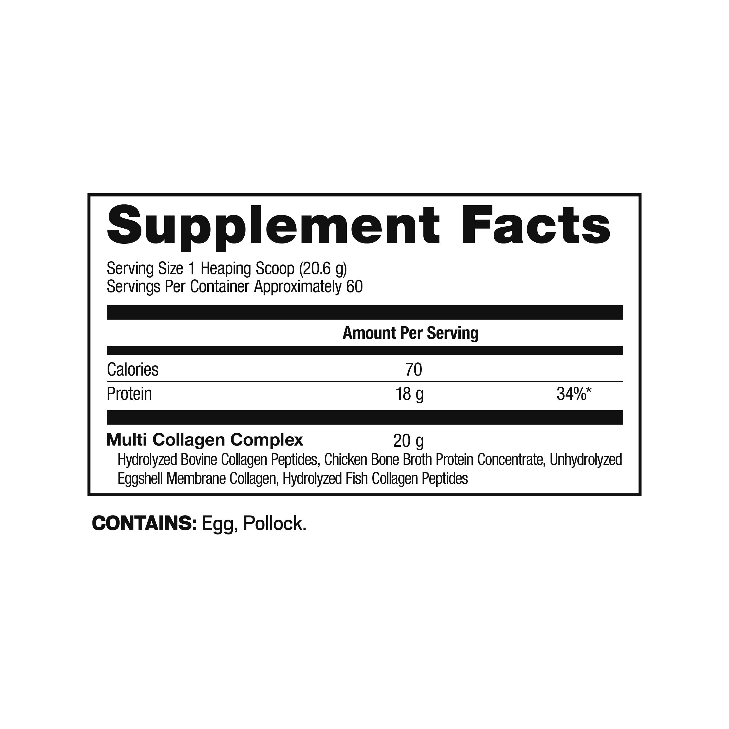 Ancient Nutrition Multi Collagen Protein Powder, 5 Types of Food Source Collagen, Type I, II, III, V and X, 42.3oz by Ancient Nutrition (Image #1)