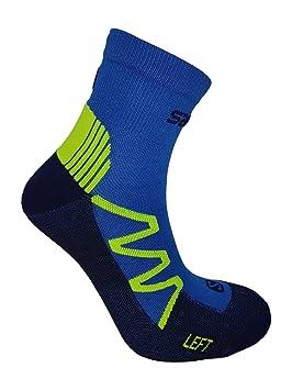 Salomon XT Hawk Calcetines Running Blanco/Rojo O. Azul/Amarillo con Ajuste, Acolchadas Suela y achillis tendones de Protector: Amazon.es: Deportes y aire ...