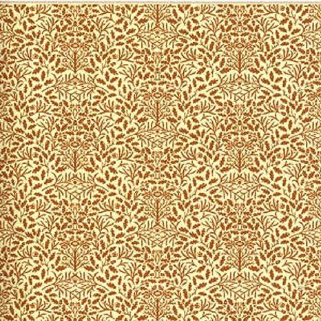 Melody Jane Dollhouse Brown on Cream Acorns Wallpaper William Morris Design