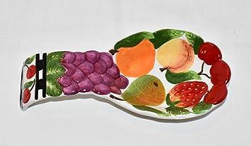 New 3D Multi Fruit Grape, Strawberry , Pear, Cherry Decorative Kitchen  Spoon Rest Spoonrest