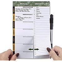 SynLiZy Planificador semanal de comidas planificador de menús magnético con listas de compras de comestibles perforadas…