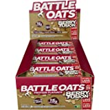 Barres protéinées Battle Oats sans gluten et riches en protéines, 12 barres de 70 g - Berry Fusion - Fruits rouges