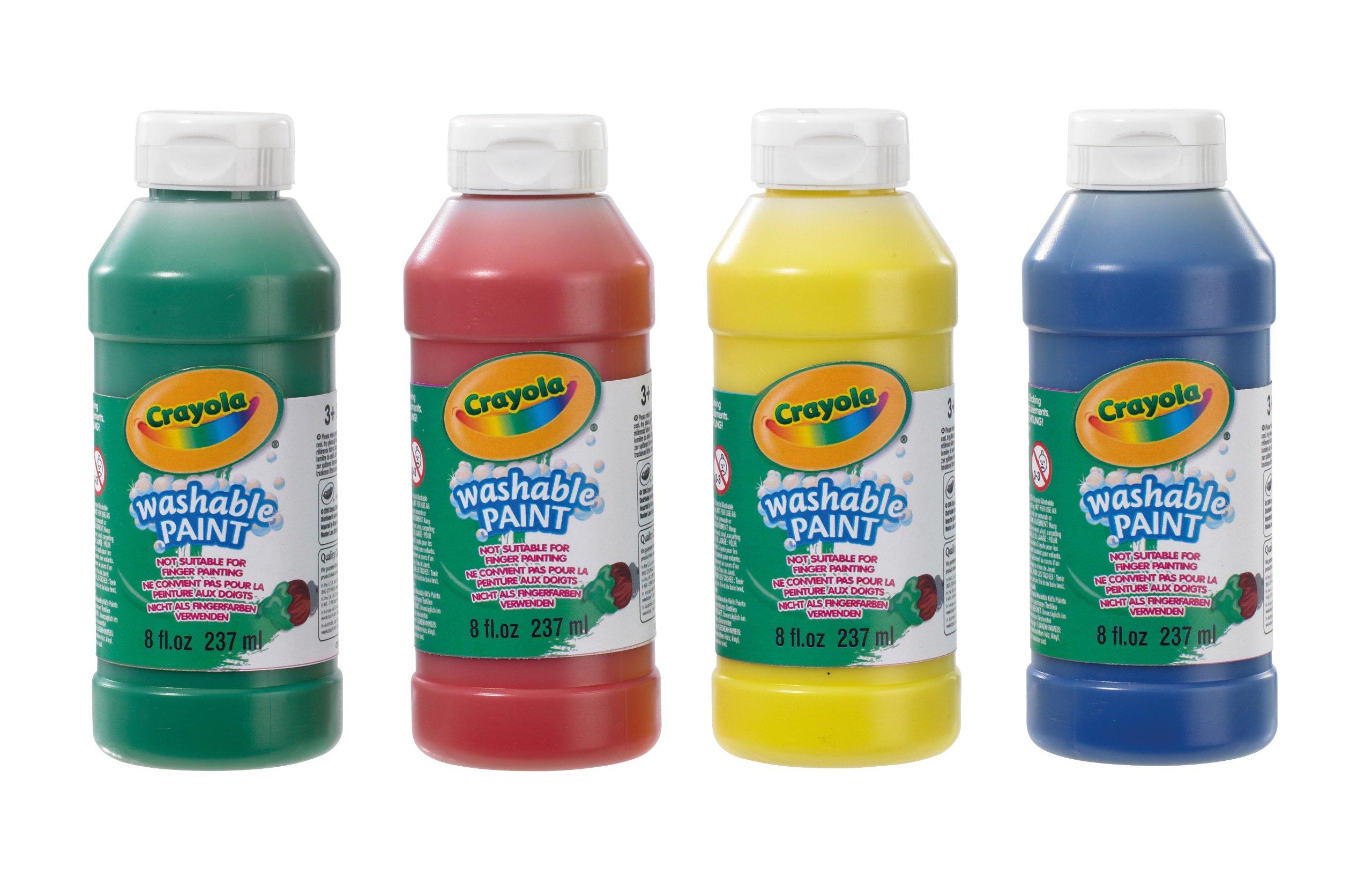 Crayola 3927 - Botellas de pintura lavable (4 unidades, 237 ml) product image