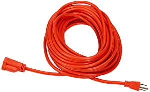 AmazonBasics 16/3 Vinyl Outdoor Extension Cord | Orange, 50-Foot
