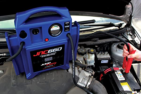 The JNC660 is a marginally more robust jump starter that is known for its unrivaled cranking power and duration.