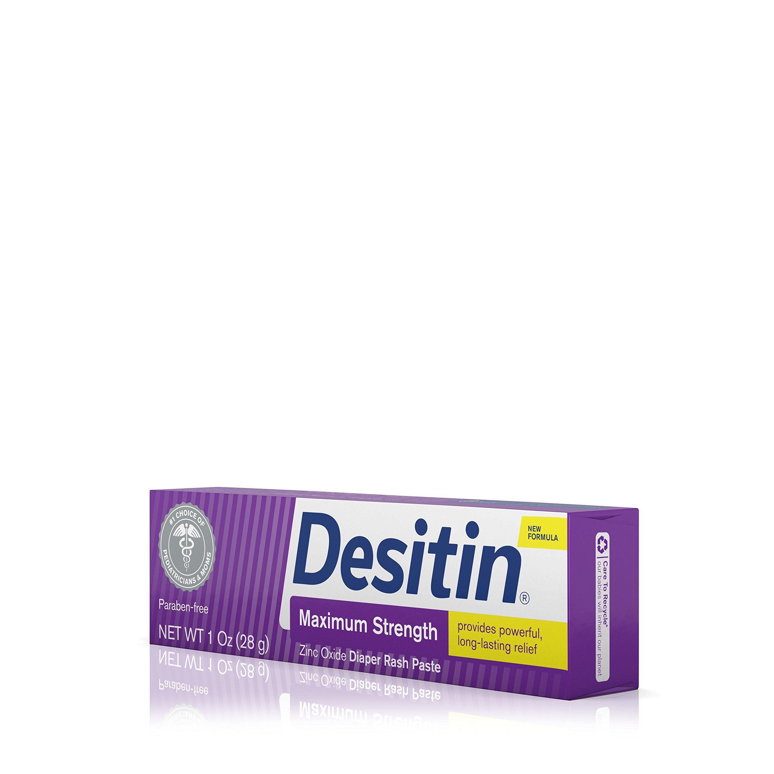 Desitin Diaper Rash Maximum Strength Original Paste, Travel Size, 1 Oz. Tube (Pack of 6) by Desitin (Image #10)