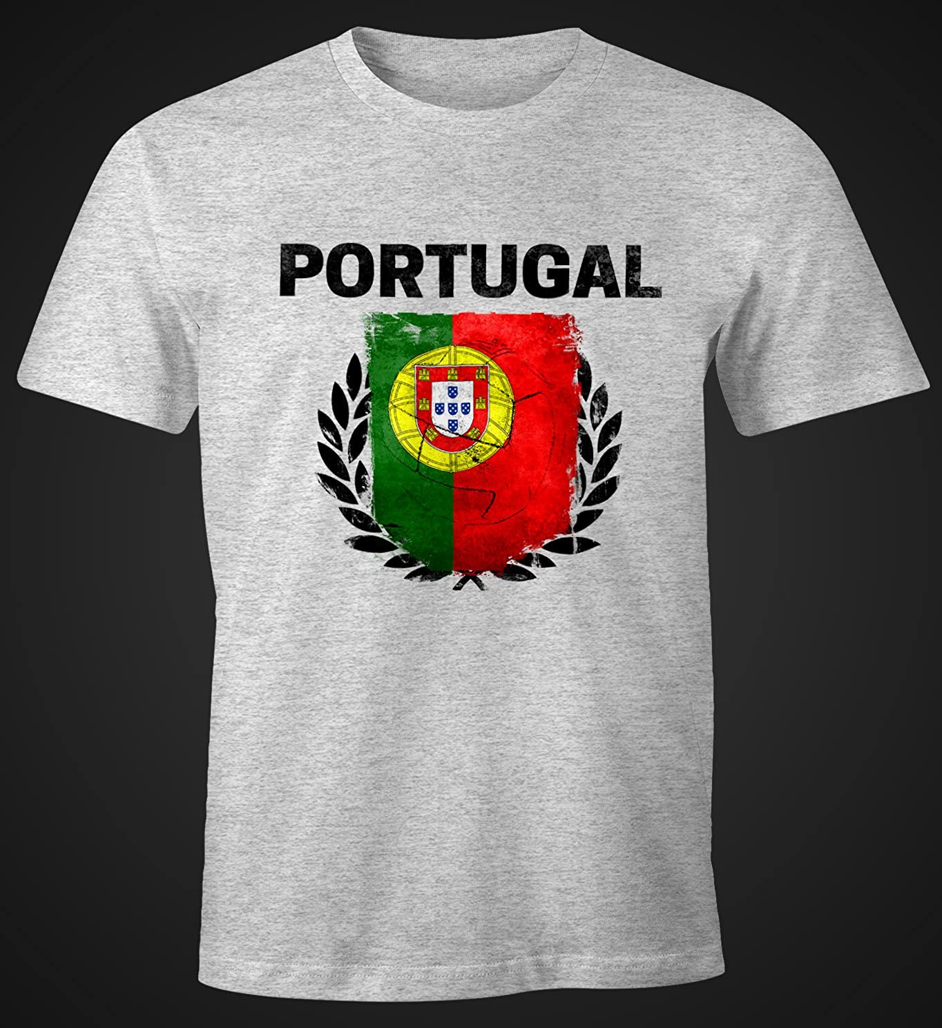 Em WM Camiseta de hombre de balón de fútbol de Portugal Bandera ...