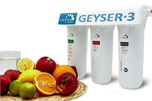 Geyser -3 LUX filtro de agua directo de 3 etapas, purificador de agua, filtro para grifo.: Amazon.es: Bricolaje y herramientas