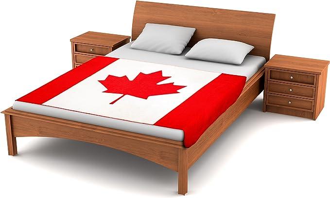 Fuzzy FlagsTM Fleece Canadian Flag Blanket