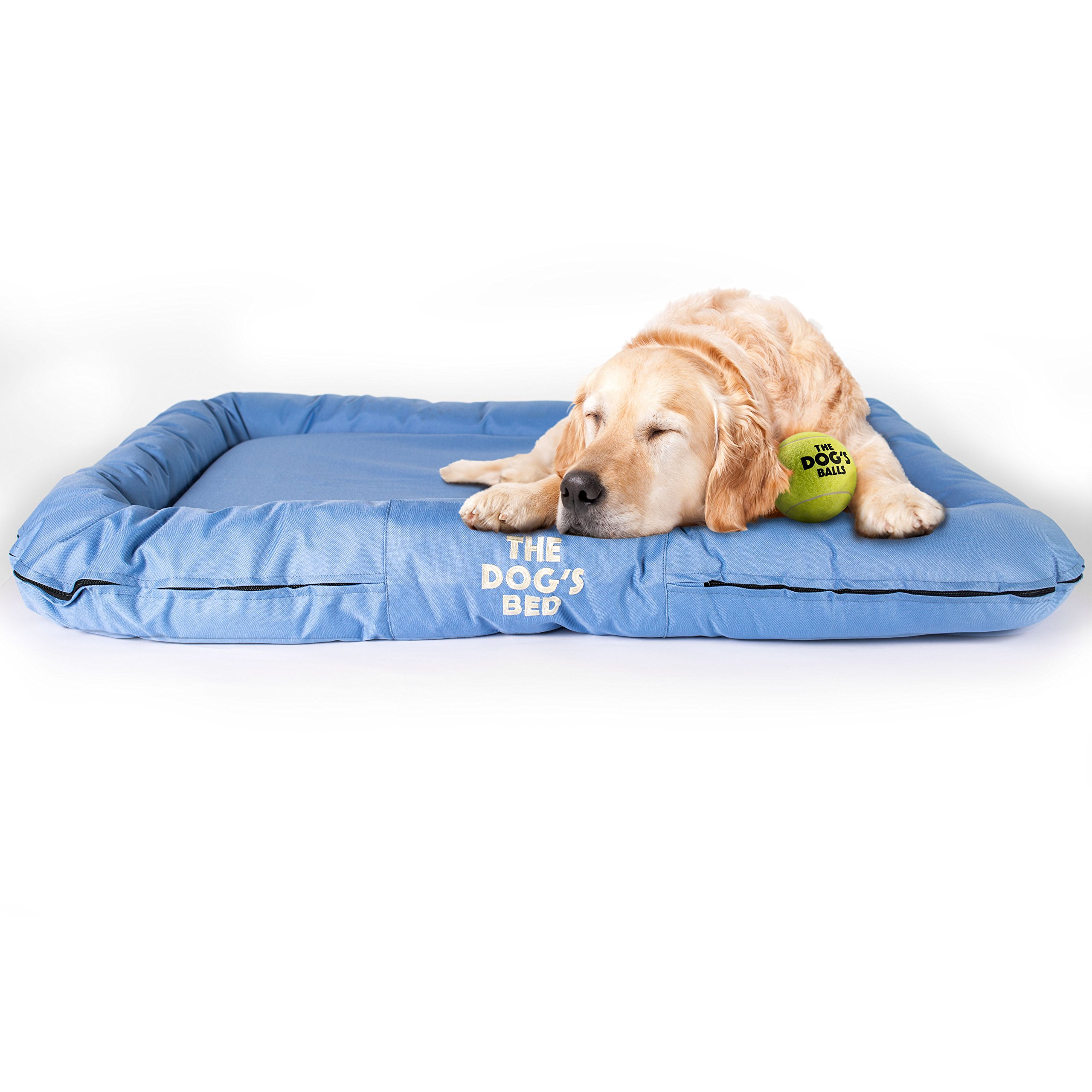 The Dog's Bed, Premium Waterproof Dog Beds, 5 sizes, 7 Colors, Quality Durable Oxford Fabric & Designed for Comfort, Washable Cover, Boarding Kennel Favorite, Happy Hound = Happy Home:)