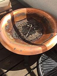 point garden feuerschale 74cm garten grill kupfer amazon. Black Bedroom Furniture Sets. Home Design Ideas