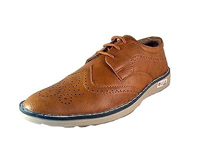 Deal Especial - Zapatos de cordones de Piel Vuelta para hombre negro negro, color marrón, talla 41 EU