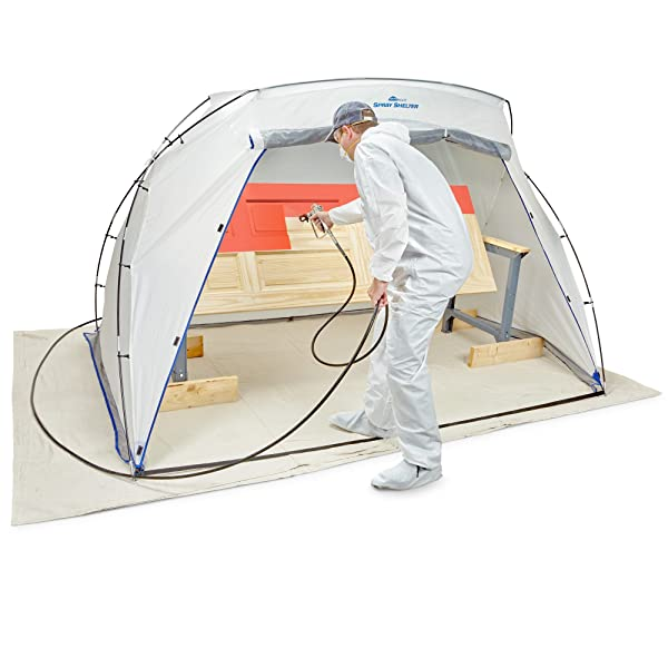 Use a spray tent for painting to avoid overspray drift
