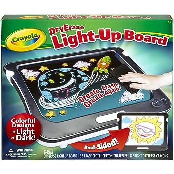 amazon com crayola dry erase light up board toys games