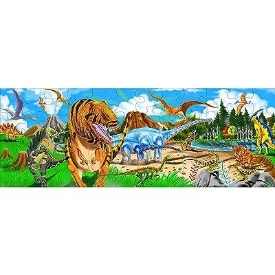 Melissa & Doug Land of Dinosaurs Floor Puzzle 48 pc: Melissa & Doug: Toys & Games