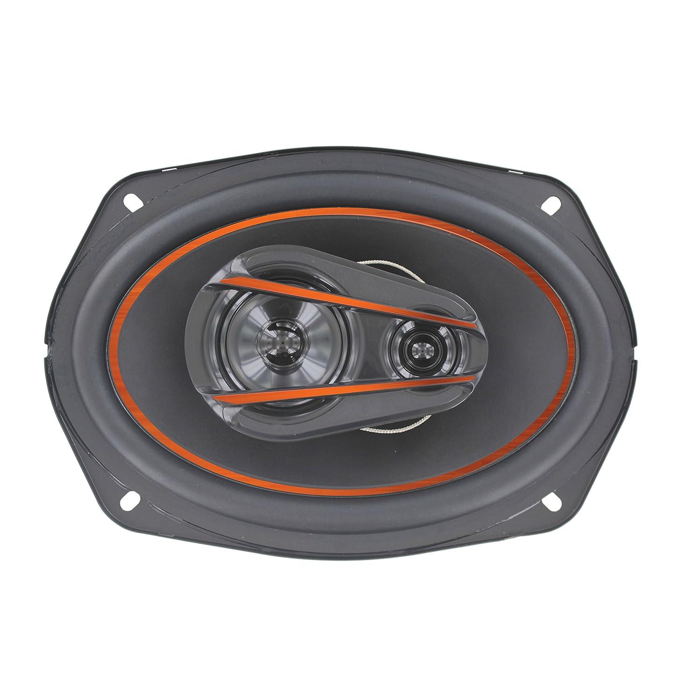VOYZ 520 Watt Car Speakers 6 x 9 Inches 3 Way High Performance Mid-Bass Mid-Range and Neodymium Tweeter 1 Pair VZ-A8990