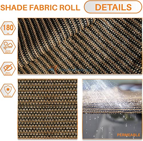 TANG Sunshades Depot 20 x 80 Shade Cloth 180 GSM HDPE Brown Fabric Roll Up to 95 Blockage UV Resistant Mesh Net