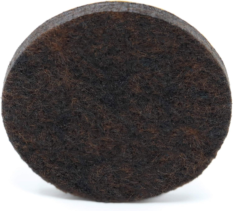 autoadhesivas redondas 5.5mm de la m/áxima calidad 4 x Almohadillas de fieltro /Ø 36 mm marr/ón