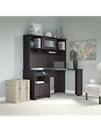 Superb Cabot Corner Desk With Hutch In Espresso Oak. Bush Furniture