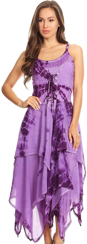 902 Violet Hem Dress Annabella Bodice Sakkas Corset Handkerchief TKJlF1c